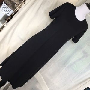 Susan Graver knit jersey basic black A line dress